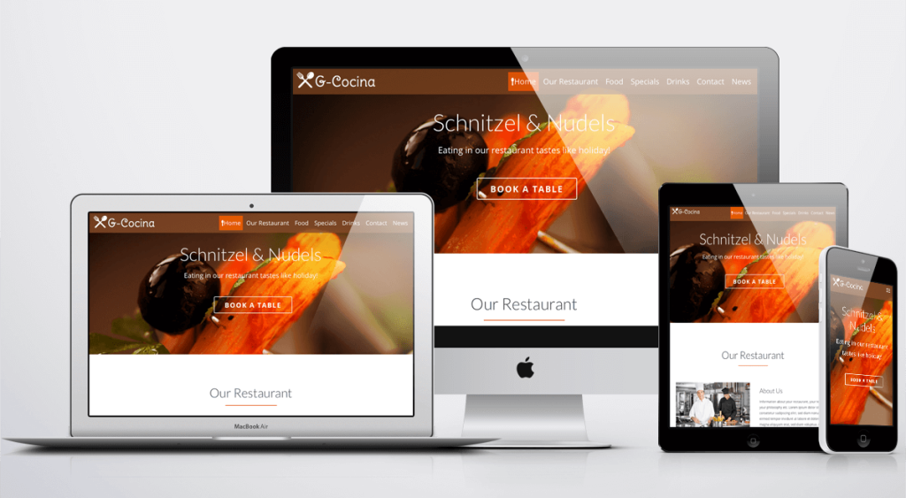 Restaurant WordPress Theme - GeckosGastro