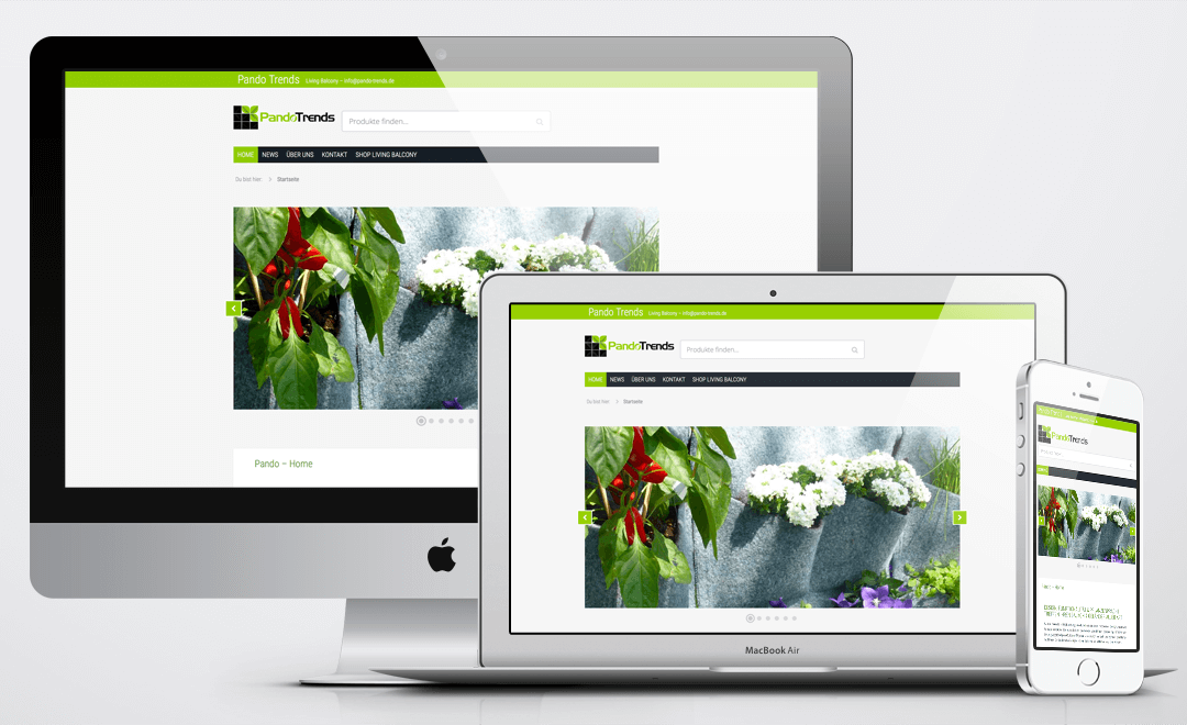 Online Shop Erstellung pando-trends.de