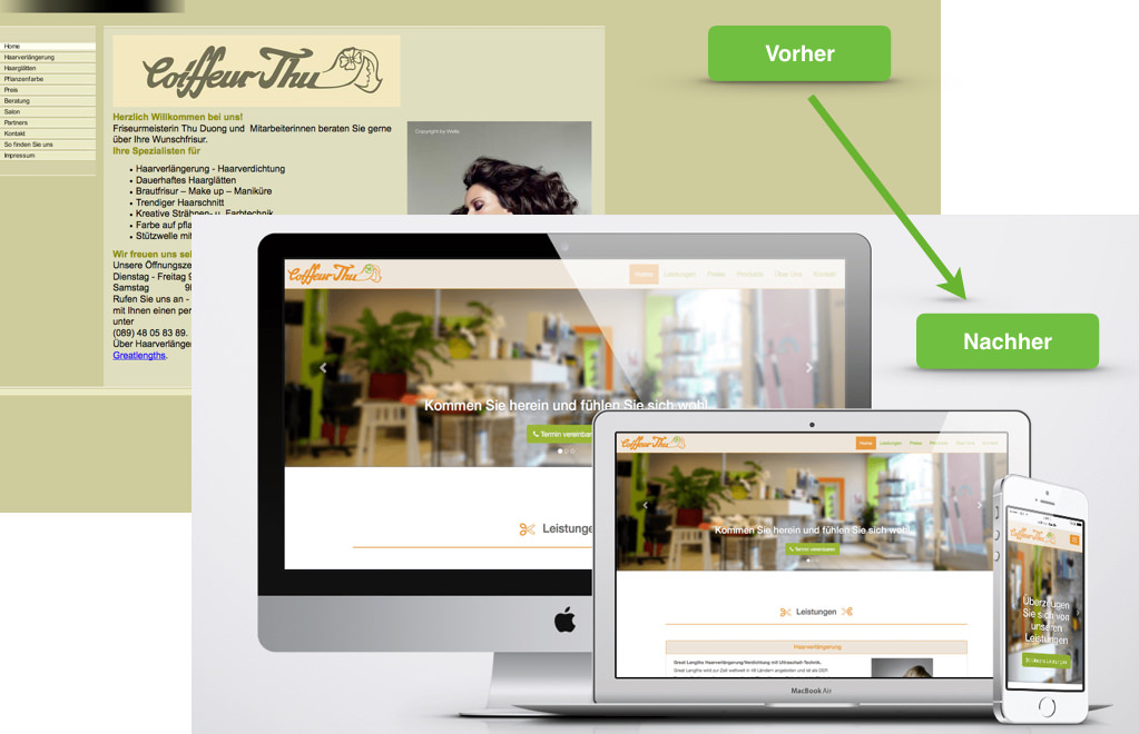 Website Redesign Friseur