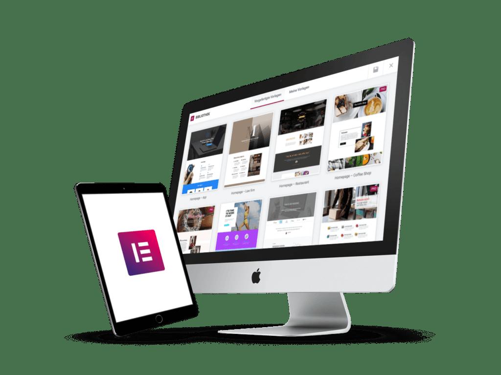 Modernes Webdesign von WebGeckos mit Elementor