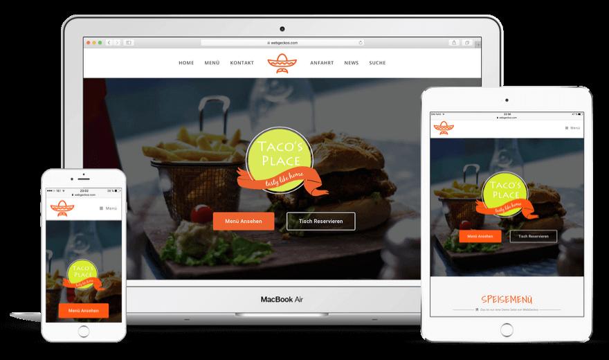 Geckos Taste – Restaurant Website erstellen